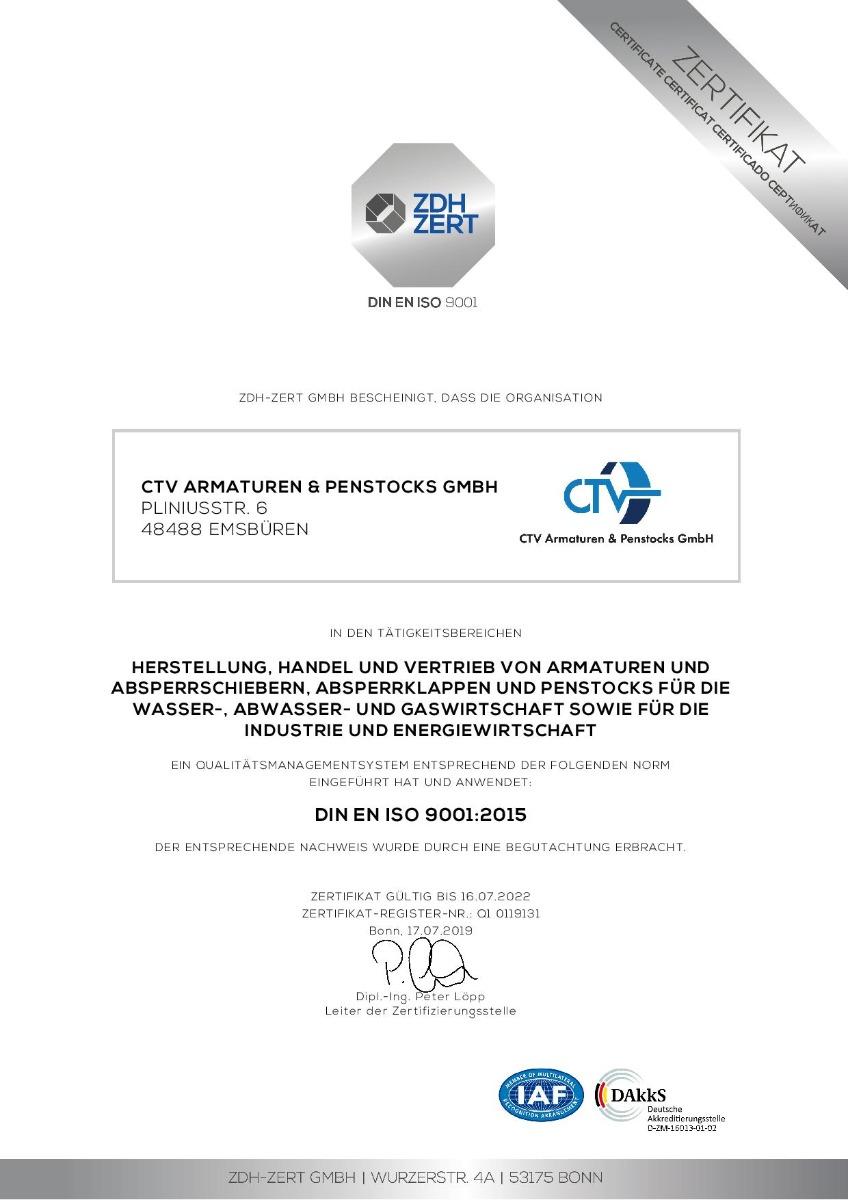 CTV ISO 9001 DE